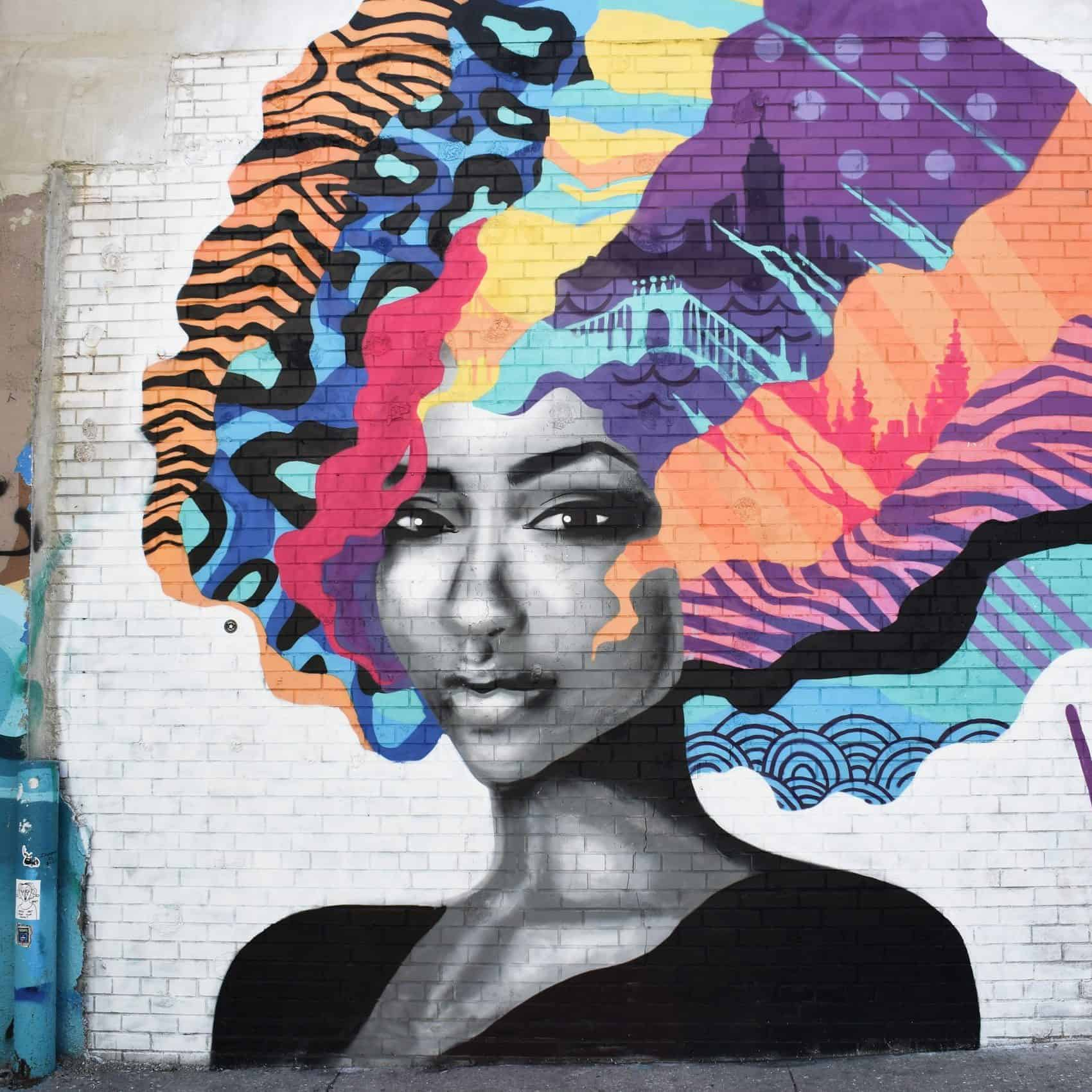 Mural of a black woman