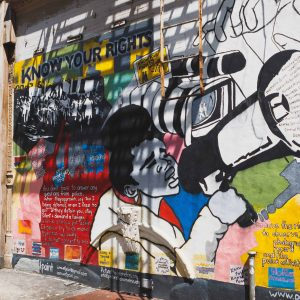 Mural about equity and social justice