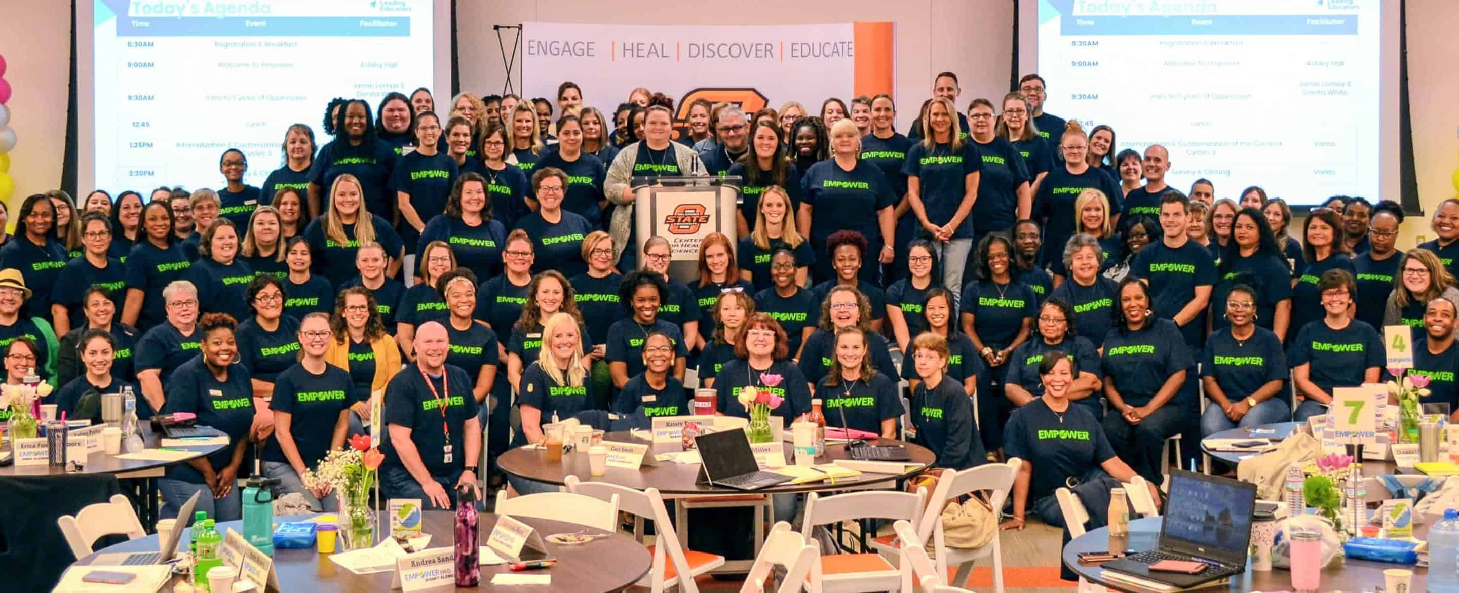 Group of educators from a 2019 Tulsa Empower session