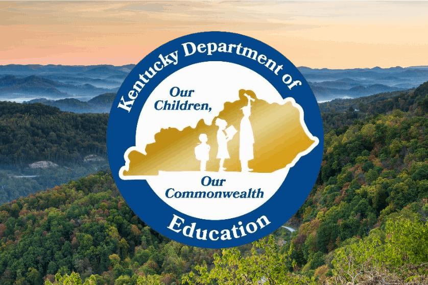 Kentucky Department of Education logo embedded on image of Kentucky landscape