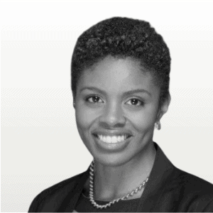 Headshot of Tiffany Johnson with gradient