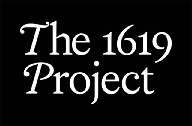 1619 project wordmark, white text on black background