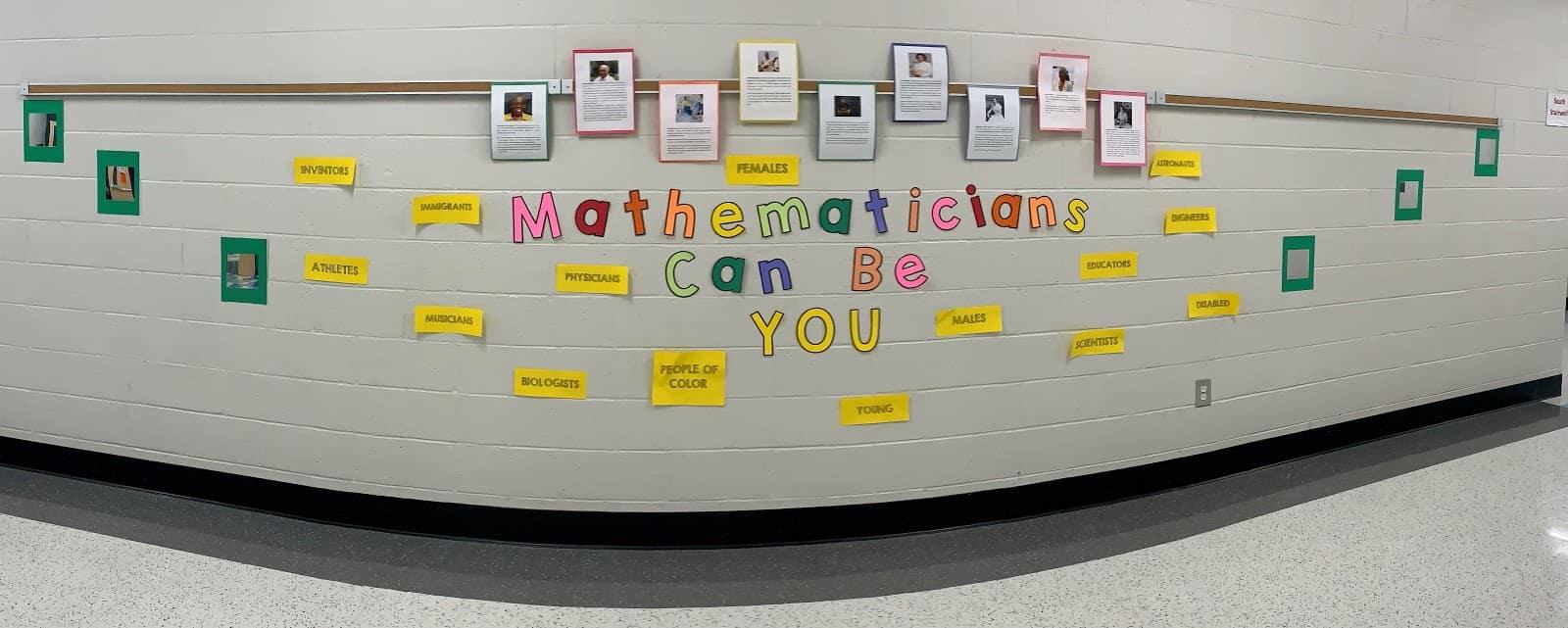 mathematics wall at Stono Park Elementary